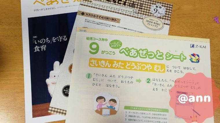 【2019年最新版】Z会幼児コース(年中)の内容と感想を語りつくします!気になるお値段についても2